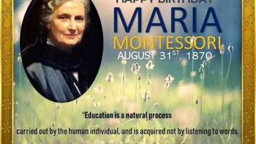 Today, We Celebrate Dr. Maria Montessori